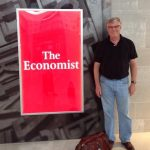 UM economics professor Jon Moen plans to present his work on the causes of the Panic of 1907 for the first time at the 2020 Annual Conference of the Economic History Society. Pictured here at the Detroit airport. Submitted photo